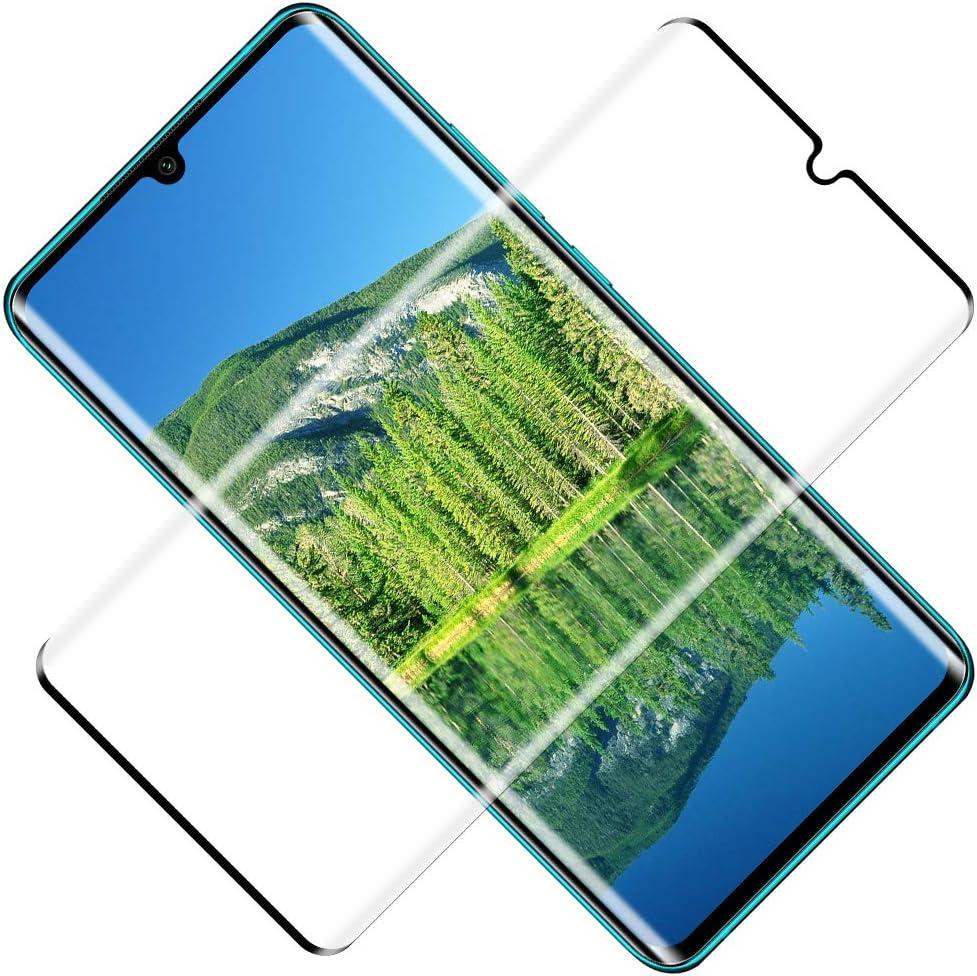 TOCYORIC Protector de Pantalla para Xiaomi Mi Note 10/Note 10 Lite/Note 10 Pro, 2 Pack [3D Curvo Full-Cover] Cristal Templado Mi Note 10, Alta Definicion, Vidrio Templado para Mi Note 10 Pro