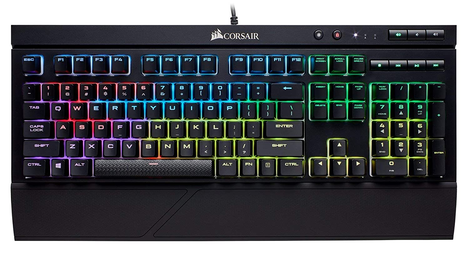 CORSAIR K68 RGB Mechanical Gaming Keyboard Dust and Spill Resistant Linear /& Quiet Cherry MX Red Backlit RGB LED Renewed