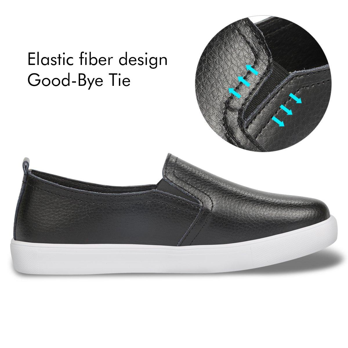 Detalles de Hombre Vox Footwear Inc Skater Estilo Casual con Cordones Zapatillas de Piel