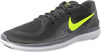 Nike Men S Flex 2017 Rn Running Shoe Running Grey Black Volt Road Running