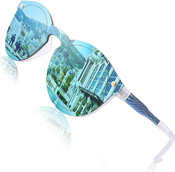 Rahmenlosen Verspiegelte Sonnenbrillen one piece Rahmenlos Sonnenbrille