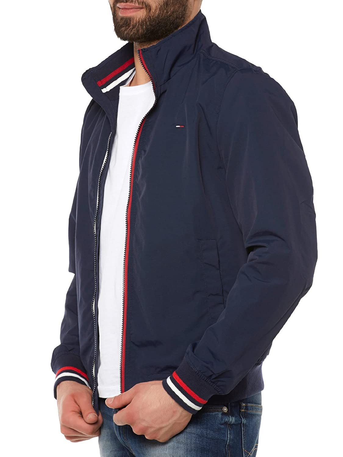 Tommy Jeans Hombre Basic Casual Bomber Chaqueta Manga Larga Blusa