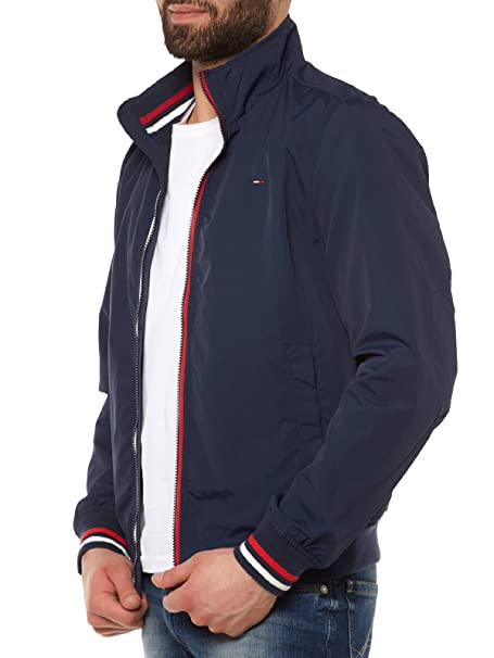 Tommy Jeans Homme Basic Casual Bomber Blouson Manches Longues