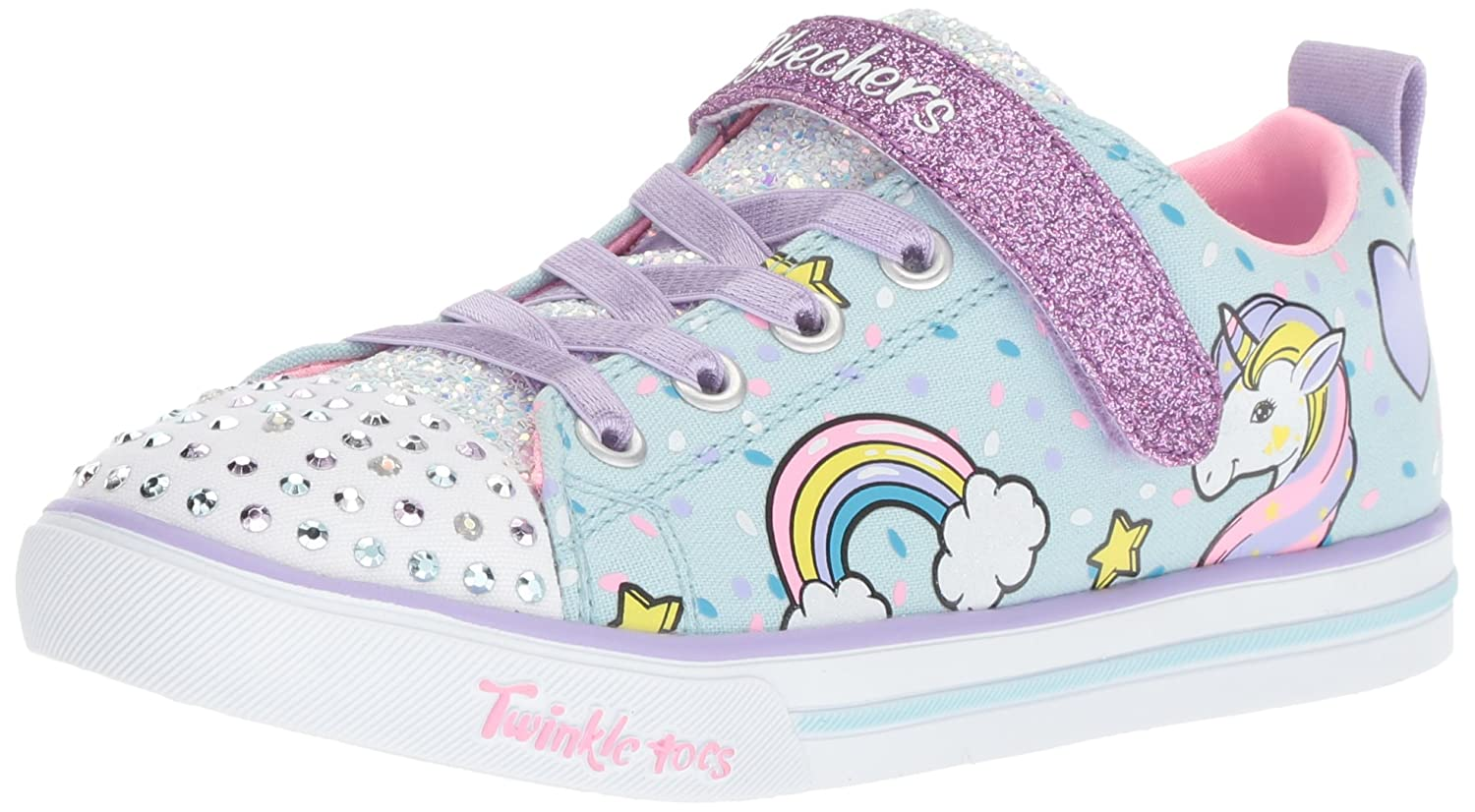 Skechers Kids' Sparkle Lite Unicorn Craze Sneaker