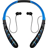 Bluetooth Headphones Headset Rymemo Newest 20 Hrs Continuous Playing Time Wireless Music Stereo Sports Running Earphones Vibration Neckband Style for Cellphone,Blue-Black