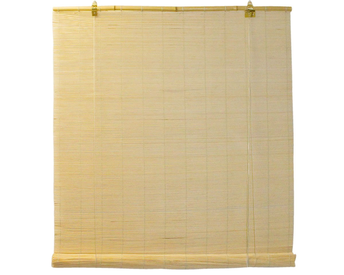 Natural Bamboo Matchstick Roll Up Window Blind (Light Brown, 30 x 72) Seta Direct BB801BR