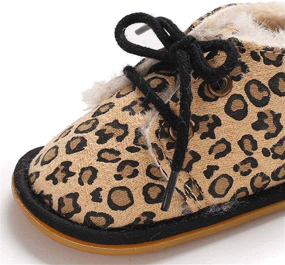 Meckior Winter Newborn Unisex Baby Girls Boys Velvet Rubber Sole Anit-Slip Shoes Prewalker Boots 6-12 Months Infant, A-Print
