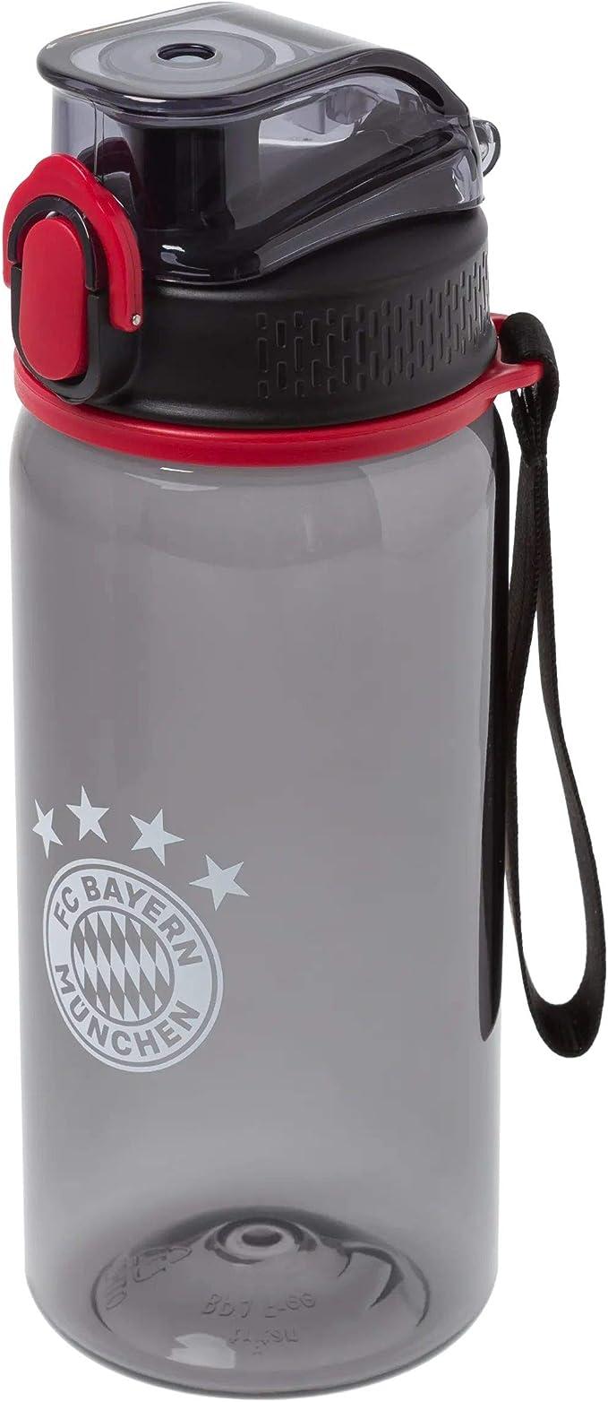 rot transparent FCB Plus Lesezeichen I Love M/ünchen FC Bayern M/ünchen Trinkflasche 0,4 l Flasche Bottle