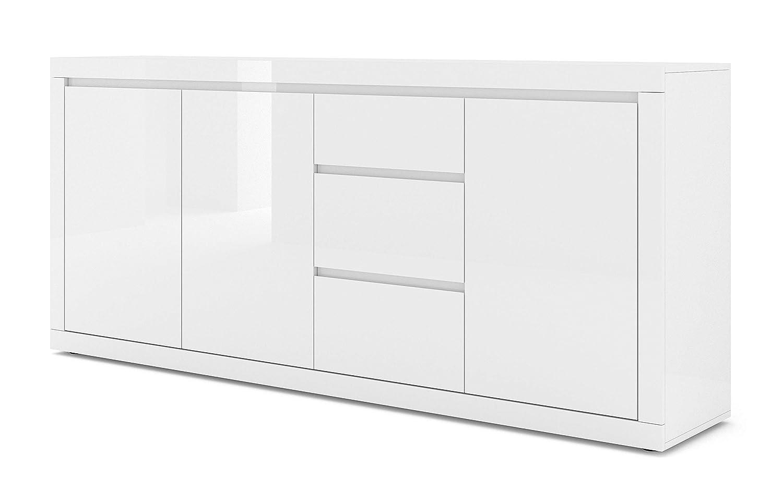 BIM Furniture Com/ò Bello Bianco IV 200 cm Colore: Bianco Opaco//Bianco Lucido DREI