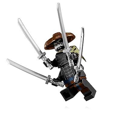The LEGO Ninjago Movie Minifigure - Jungle Garmadon (with Display Stand) 70617: Toys & Games