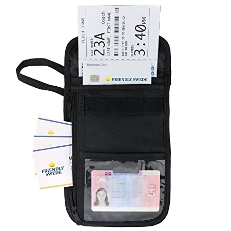 The Friendly Swede Porta Documentos con Correa para Cuello y Fundas Protectoras RFID (Pack de 2 Portadocumentos) - GARANTÍA DE POR VIDA: Amazon.es: Deportes ...