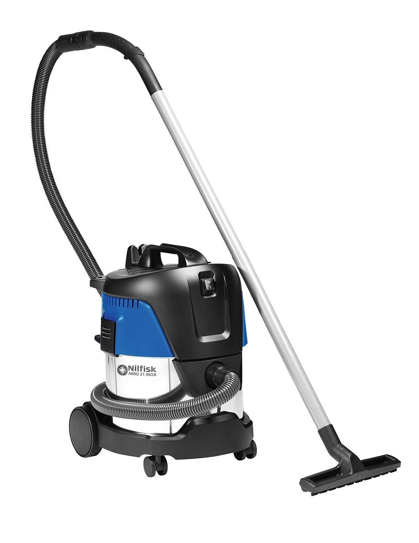 Nilfisk 107406602 Aspiradora en seco y húmedo, 230 V, Negro, Azul ...