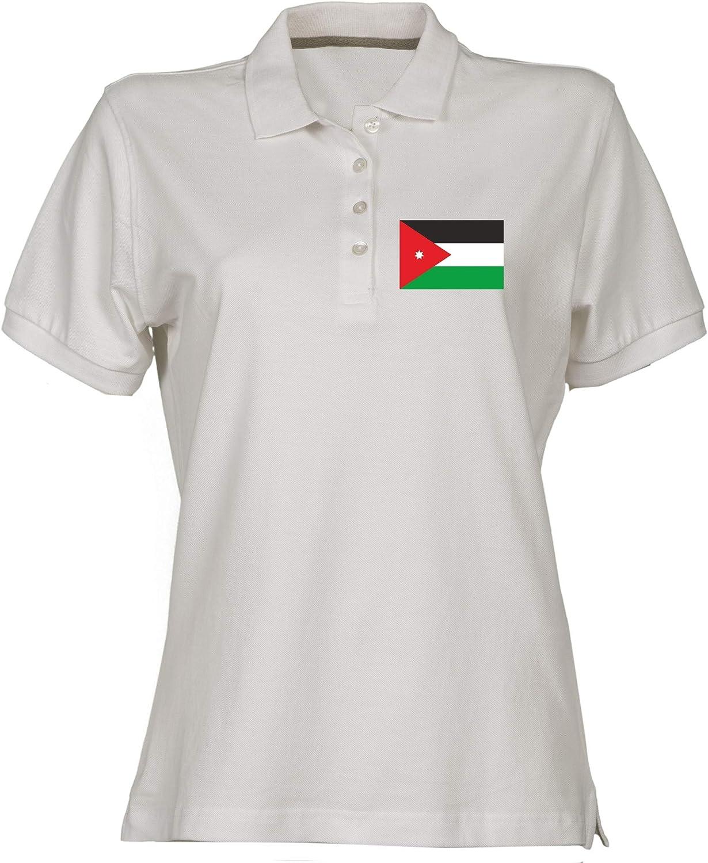 Polo para Mujer Blanco TM0203 Jordan Flag: Amazon.es: Ropa y ...