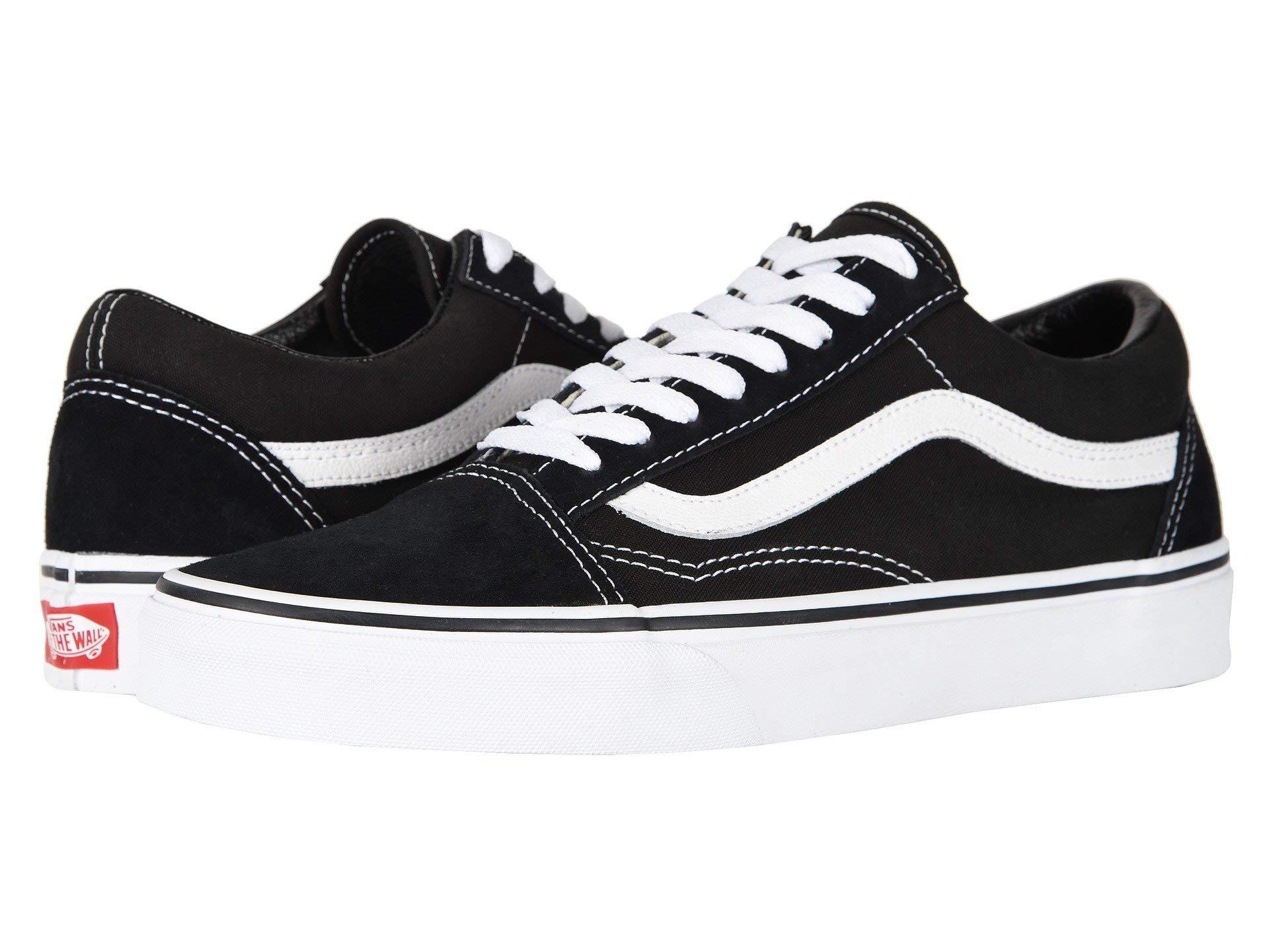 Vans Unisex Old Skool (Primary Check) Skate Shoe (5.5 M US Women / 4 M US Men, Black/White) by Vans (Image #1)