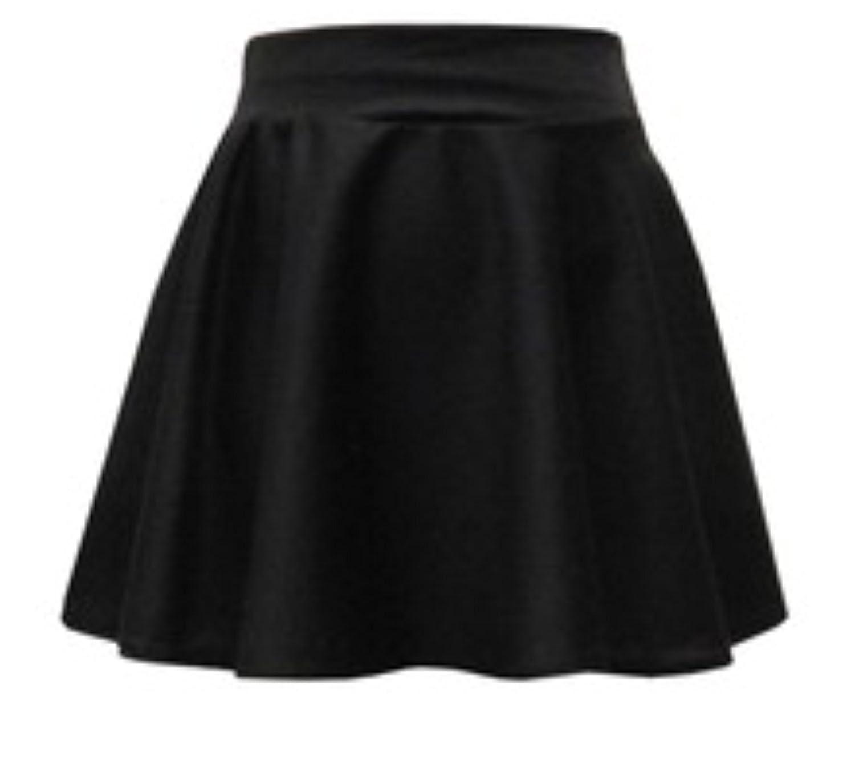 4de04e05e3 Kids Girls Black Plain Skater Elasticated Waist Skirt School Fashion 7-13:  Amazon.co.uk: Clothing