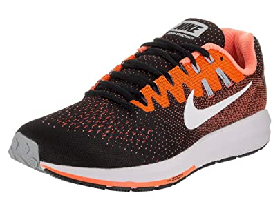 57b6d1d731d2 Nike Men s Air Zoom Structure 20 Black White Total Orange Running Shoe 10  Men