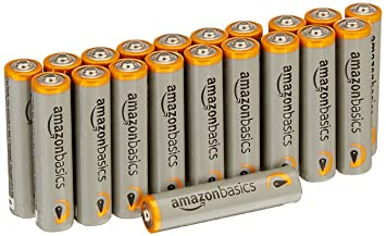 AmazonBasics - Pilas alcalinas AAA Performance (Paquete de 20) - Diseño variable