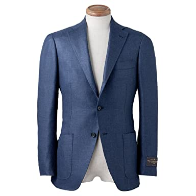 Canonico Wool Silk Linen Jacket BYJ-10: Navy