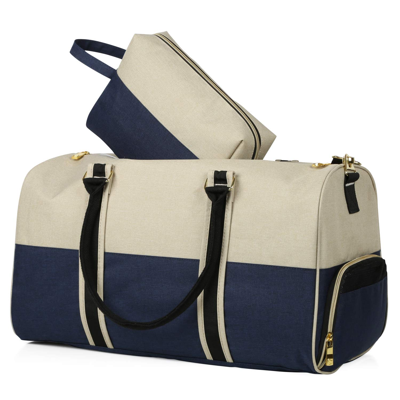 Canvas Duffle Bag with Shoe Compartment  47f2de743