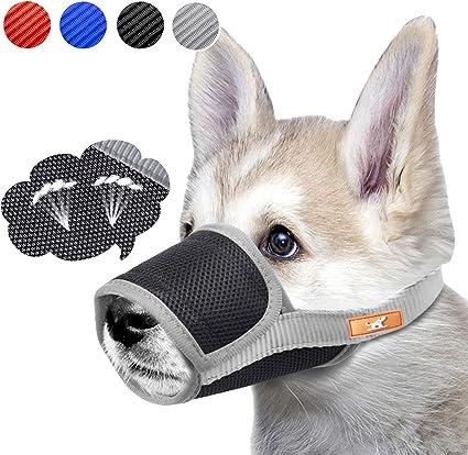 Dogs Muzzle Stop Anti-Bite Barking Chewing Mesh Mask Training Small Large S-XXL
