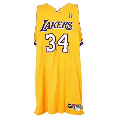 official photos edddb ace58 2002-04 Shaquille O'Neal, LA Lakers, Game Issued, Home Nike ...