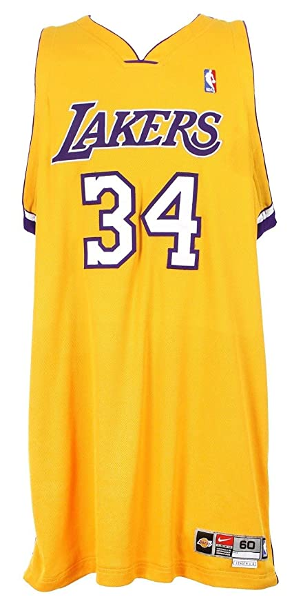 official photos a3d79 c4981 2002-04 Shaquille O'Neal, LA Lakers, Game Issued, Home Nike ...