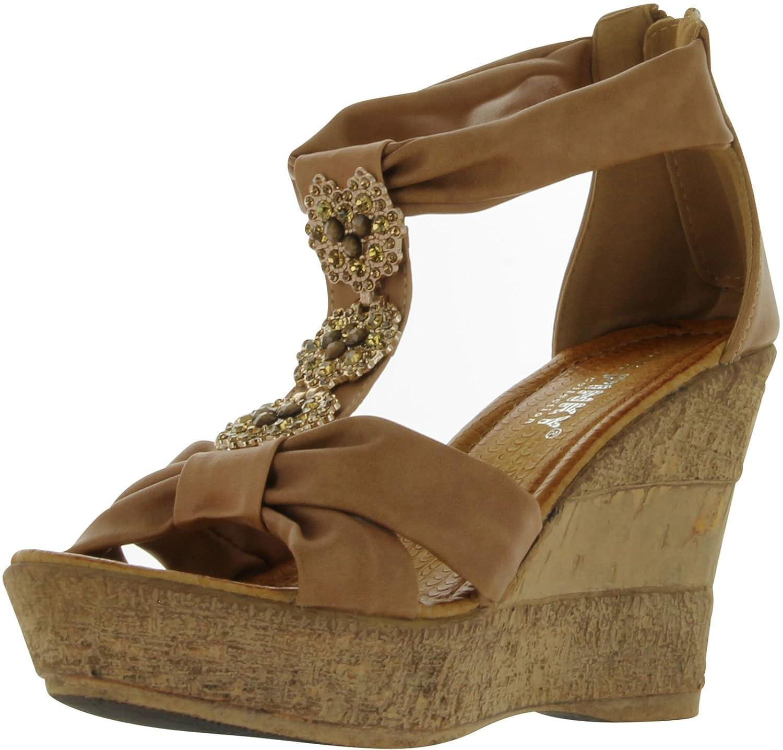 Pinky Women's Vivi-18 Fashion Wedge Sandals B00C9T8A6Q 7 B(M) US Khaki