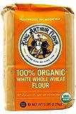 King Arthur Flour, Og, White Whl Wheat, NET WT 5 LBS (2.27 kg)