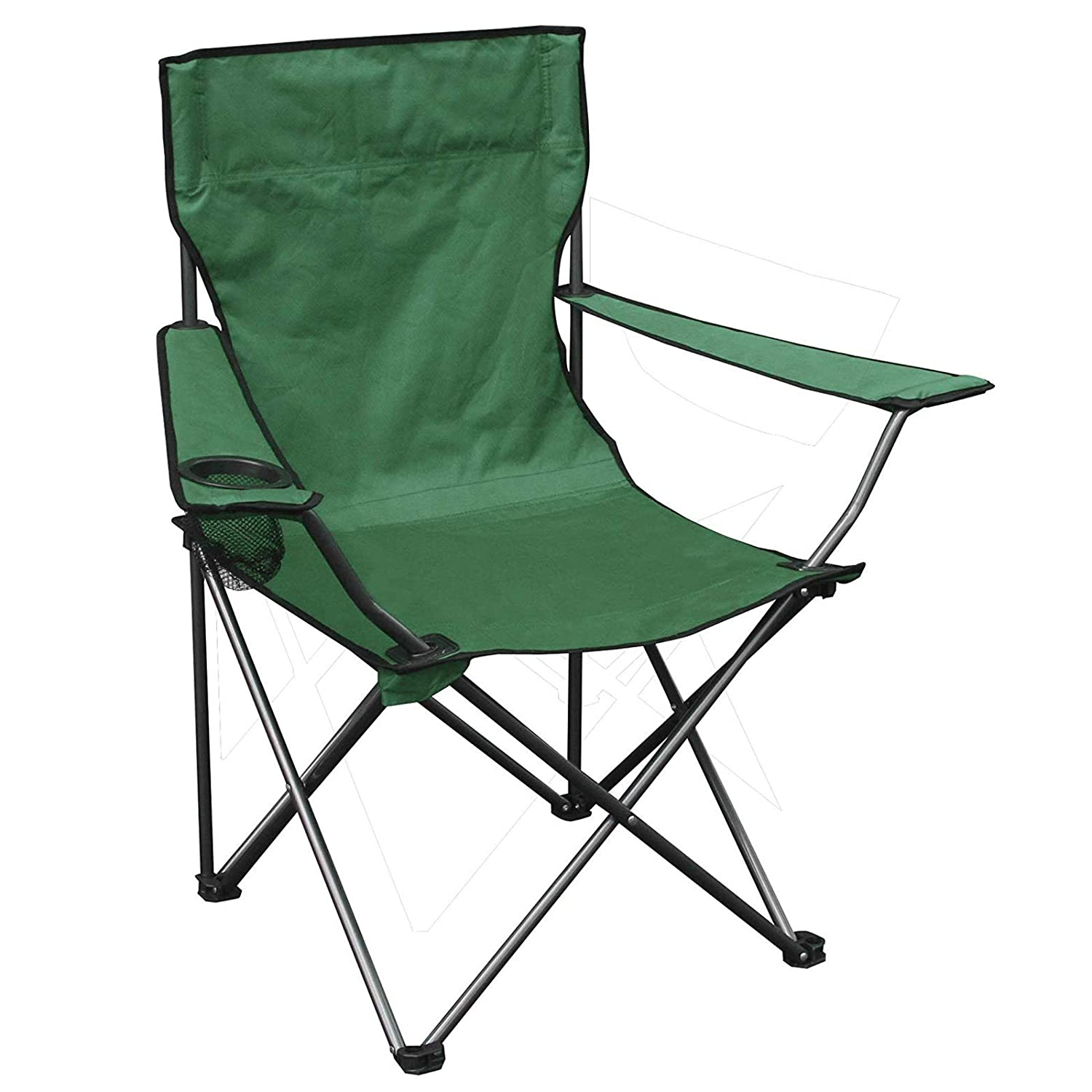 AMOS Folding Camping Chair with Cup Holder and Carry Bag Lightweight Portable Seat for Trail Outdoor Leisure Fishing Festival Beach Travel