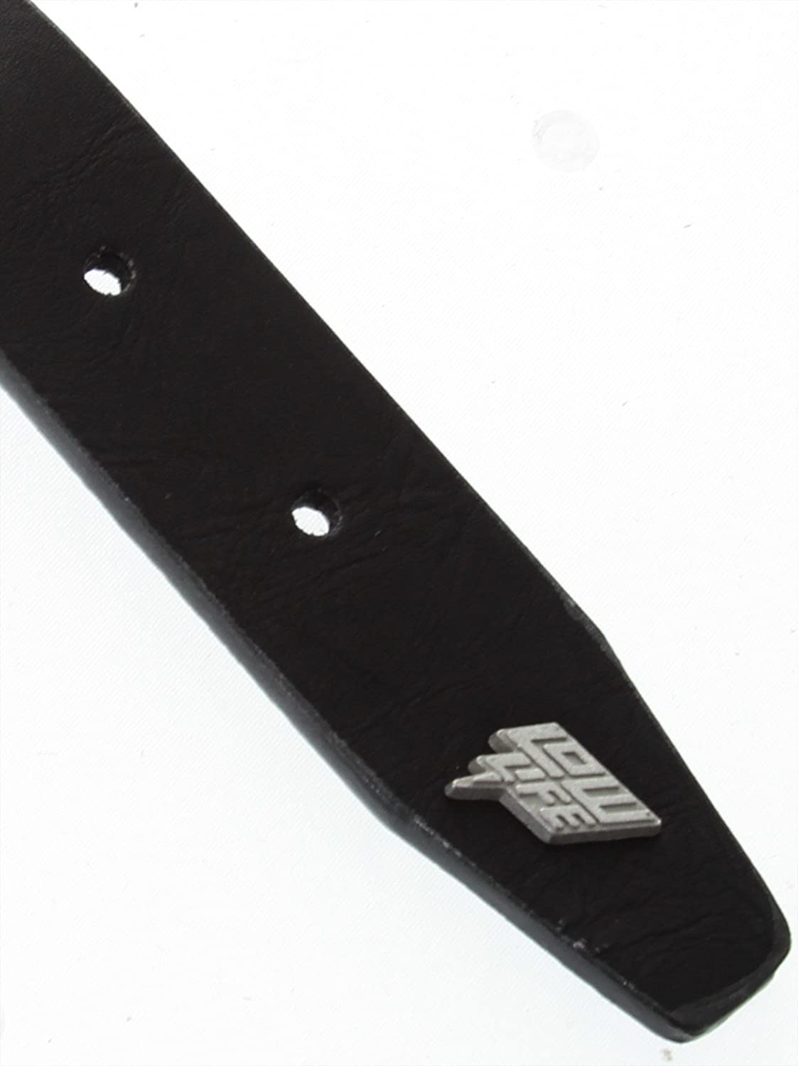 Lowlife Black-Silver Single Stud Belt L , Black