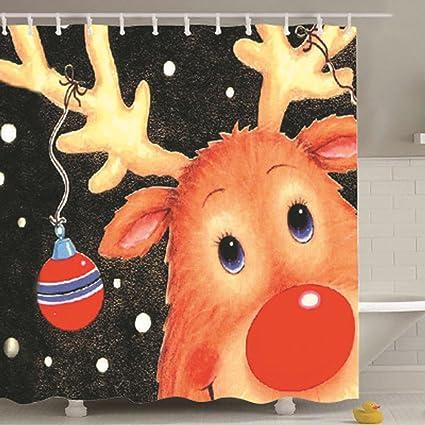 Custom cortina de ducha de decoración para el hogar Navidad 100% Material de poliéster de ...