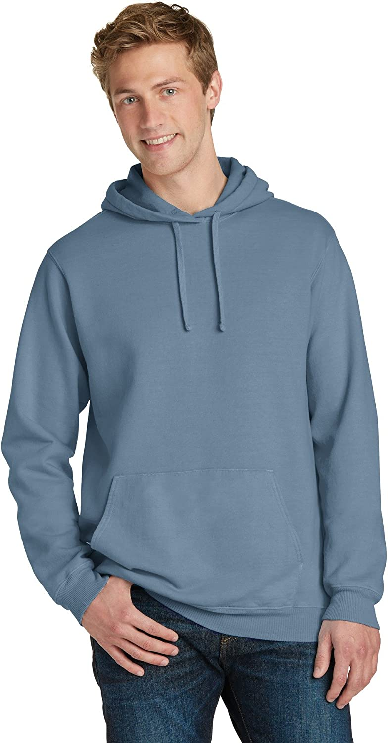 Port /& Company Pigment-Dyed Pullover Hooded Sweatshirt PC098H
