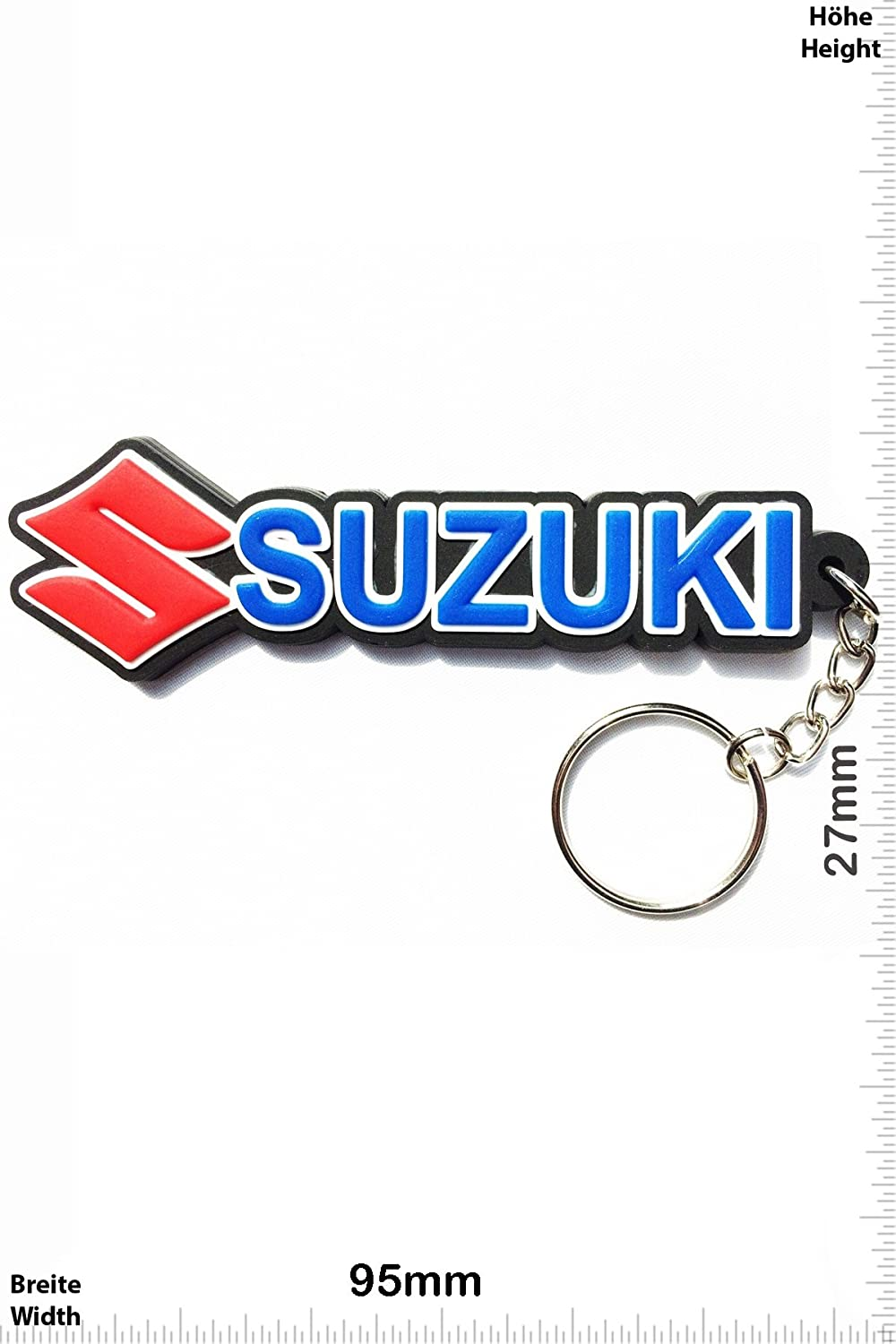 Kautschuk Rrubber Keyring Suzuki Key Ring Motorbike perfect also bags Car Scooter Give away Motocross blue Keychains Porte-cl/és Motorcycle wallets or briefcase