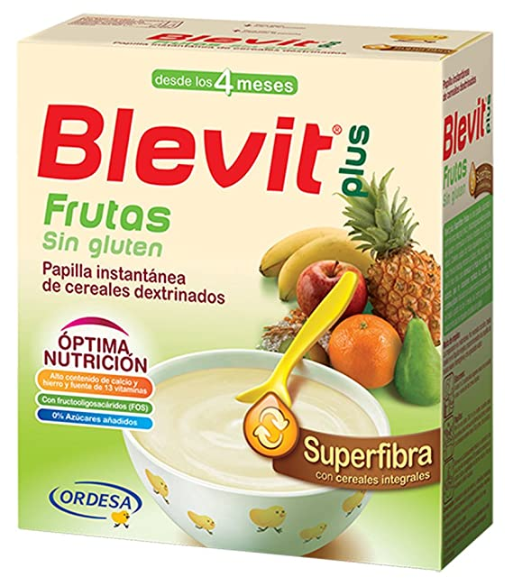 Blevit Plus Superfibra Frutas Cereales - Paquete de 2 x 300 gr - Total: 600 gr: Amazon.es: Amazon Pantry