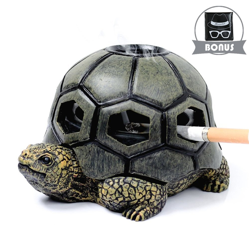 Monsiter Turtle Ashtrays for Cigarettes Cute Ash Tray for Home and Outdoor by Monsiter