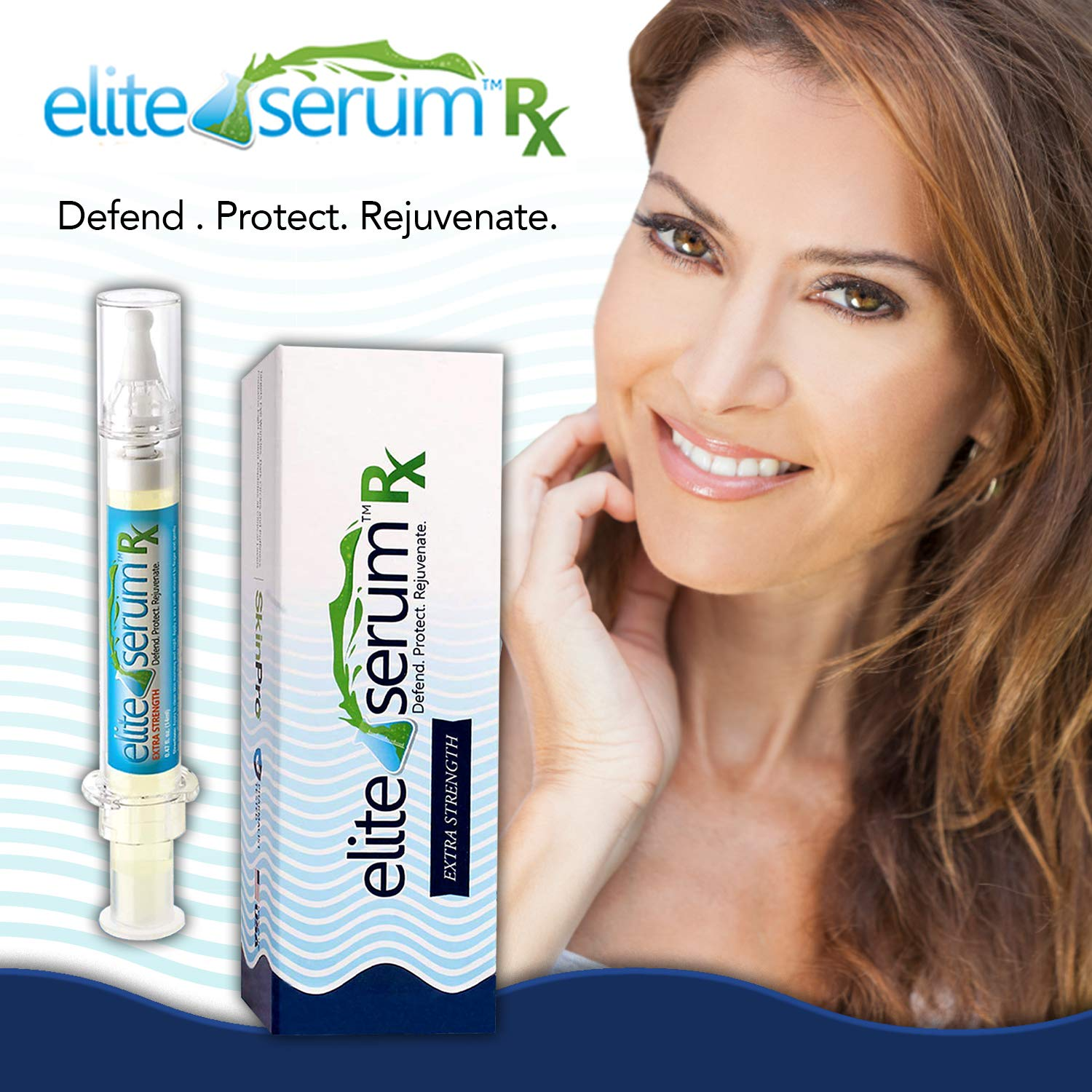 Elite Serum Rx | Pharmaceutical Grade Eye Serum with 7 Patented Peptides |  Doctor Recommended for