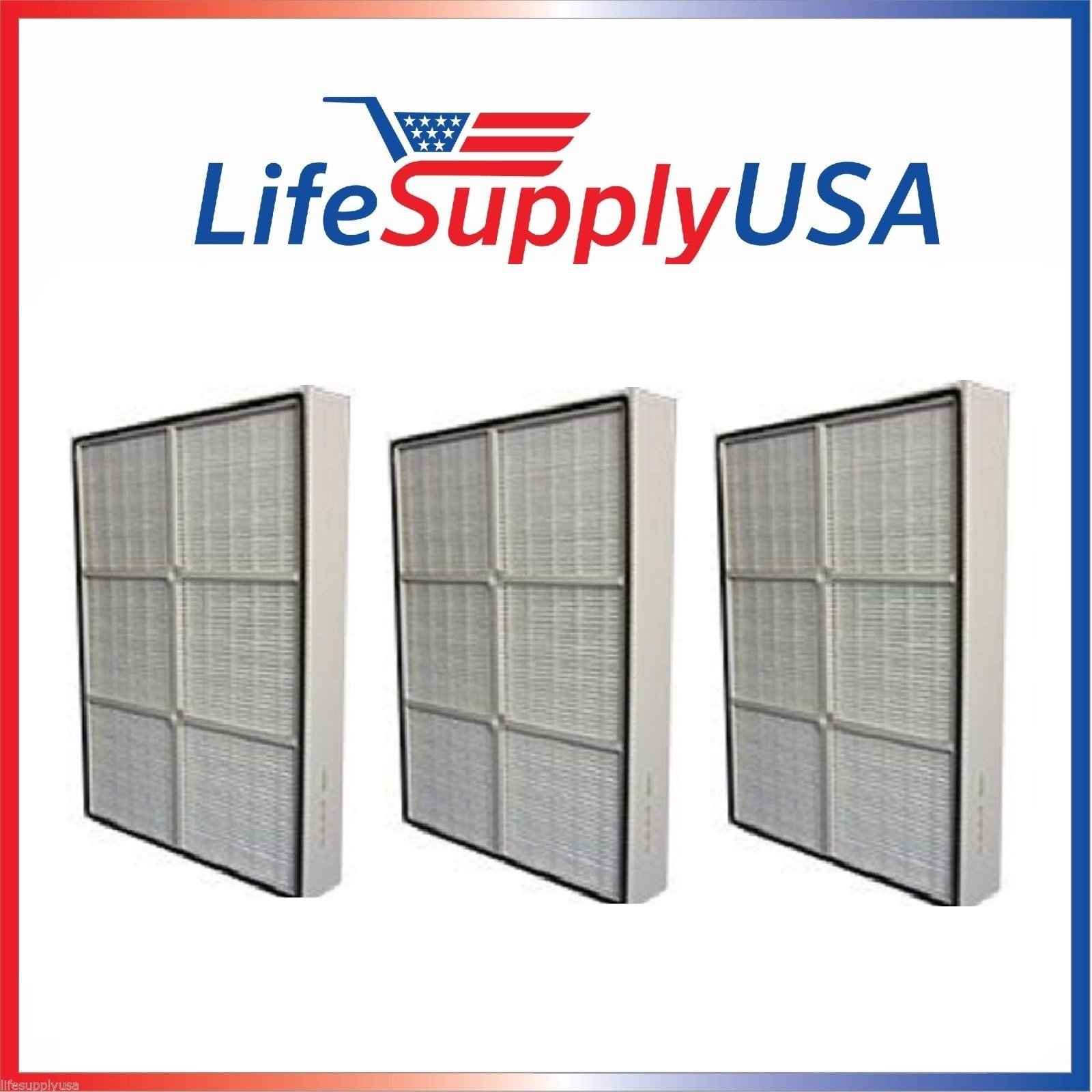 3 Pack - Filters fit Whirlpool 1183051K PLASTIC FRAME for AP150 and AP250 By LifeSupplyUSA
