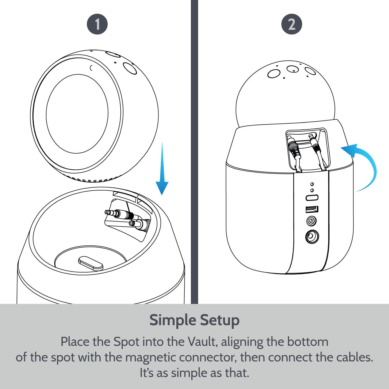 Station daccueil Portable pour Haut-Parleur avec Support pivotant Amovible pour  Echo Spot Vault