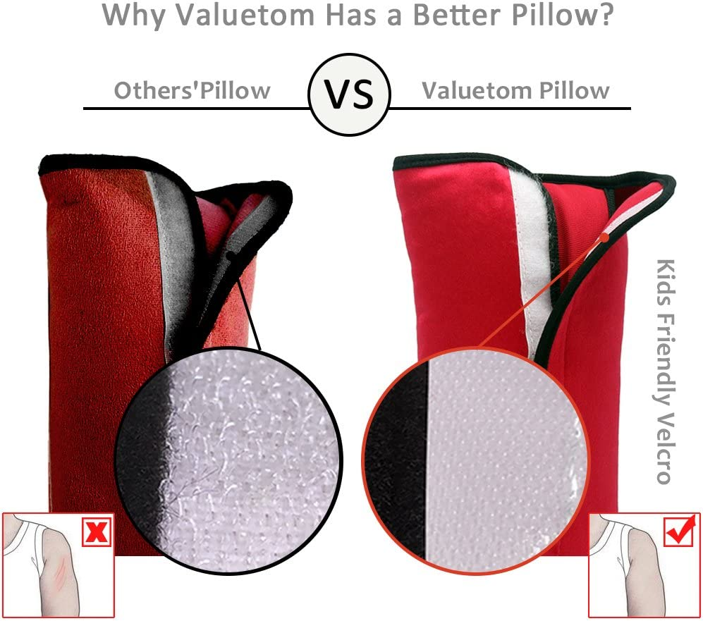 Valuetom Kids Head Support Pillow for Car Seat or Booster Seat,Keep You Comfortable and Safe During Long Distance Travelling in Vehicle Seats Like Cars Trains Planes and More