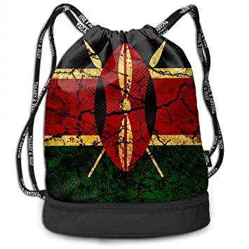 ewtretr Bolsos De Gimnasio, Drawstring Bag Vintage Kenya ...