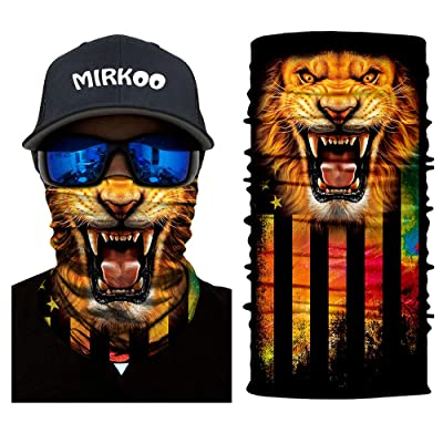 MIRKOO Breathable Seamless Tube Face Mask, Dust-proof Windproof UV Protection Motorcycle Bicycle ATV Face Mask Cycling Hiking Camping Climbing Fishing Hunting Motorcycling (MK-125): Automotive
