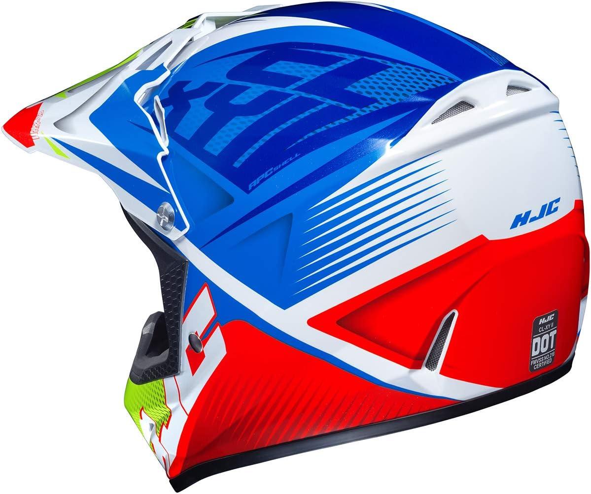 HJC Helmets Unisex-Child Off-Road Style CL-XY II Bator Youth Offroad Helmet Blue//Hi-Viz Medium