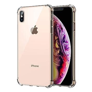 Funda iPhone Xs Max, Carcasa iPhone Xs Max SPARIN TPU Transparente [Flexibilidad] Carcasa, Funda de Silicona, [Contra Arañazos] [Anti-Golpe] [Ajuste ...