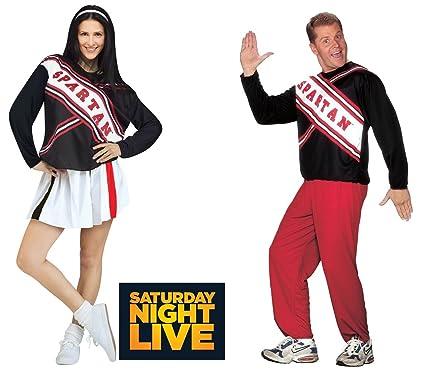 ¡Este Halloween, crea tu propia obra de teatro digna de SNL con los Spartans! En este disfraz de animadora espartano femenino para mujeres de talla grande, tendrás una explosión.