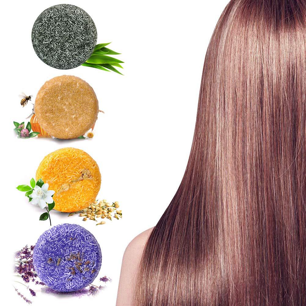 Solid Shampoo Bar, Hair Shampoo Bar, Hair Soap, Solid Shampoo Soap Hair Growth Soap Plant Essence for Dry, Oily and Damaged Hair, Helps Stop Hair Loss and Promotes Healthy Hair Growth