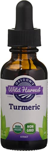 Oregon s Wild Harvest Turmeric Fresh 1 1 Organic Herbal Supplement, 1 Fluid Ounce