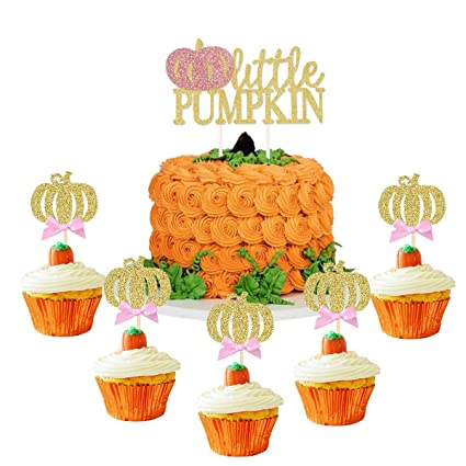 Peachy Kicibay Little Pumpkin Cake Topper And Cupcake Toppers Pumpkin Funny Birthday Cards Online Alyptdamsfinfo