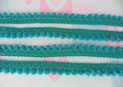 8b69403bb Amazon.com: Teal Green Mini Pompom Small Ball Fringe Trim Lace ...