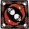 Tête de mort flammes Foulard Bandana tête d'aigle