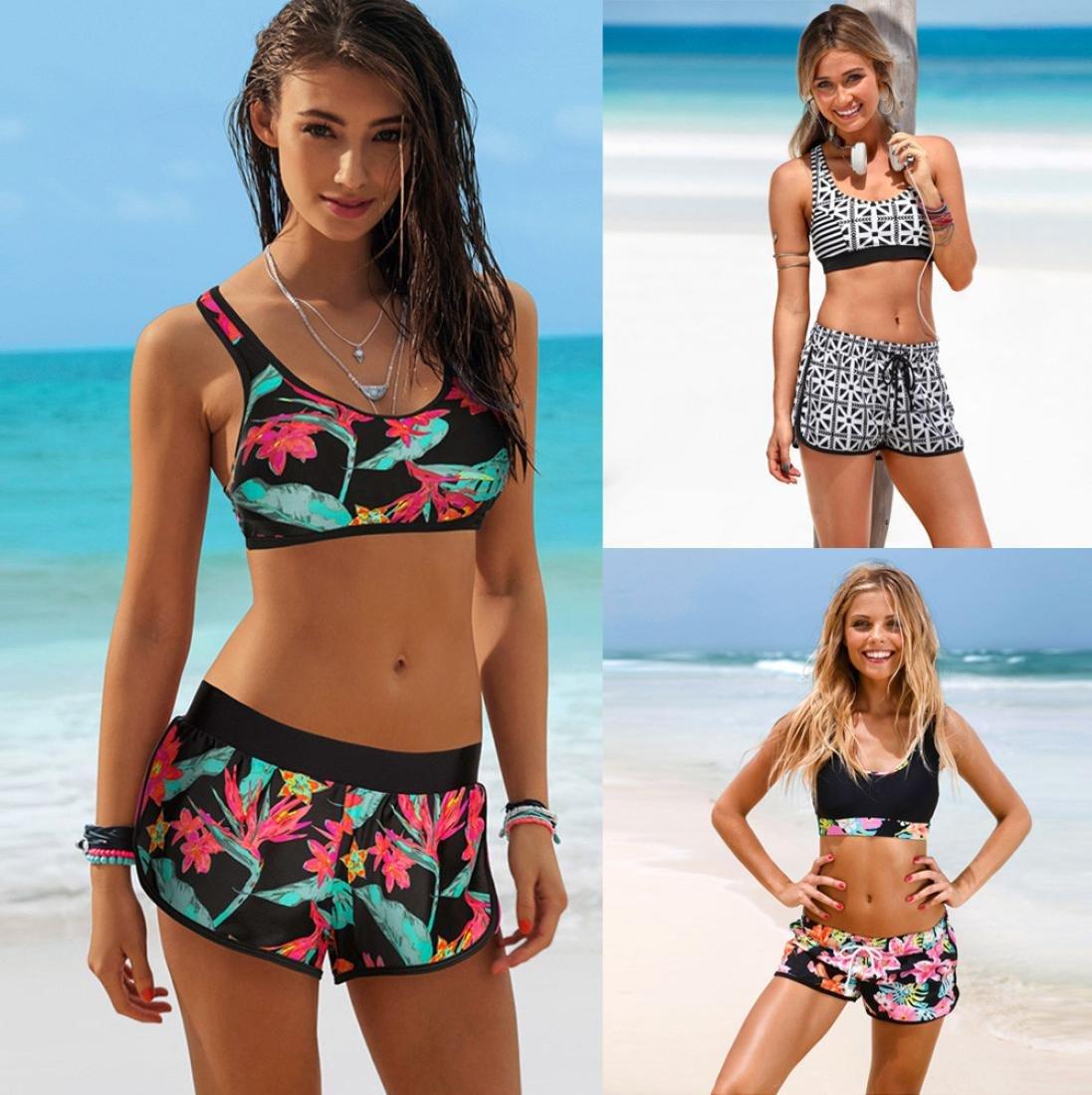 Amazon.com: Rambling Sexy Split Print Bikini Swimsuit, Womens Girls Lady  Costume Padded Swimsuit Monokini Swimwear Bikini Set: Kitchen & Dining